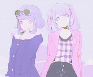 anime, pastel, and purple image