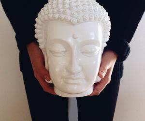 autumn, black, and Buddha image