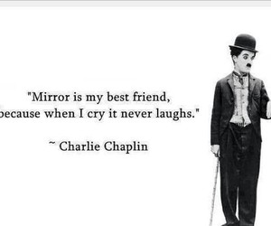 charlie chaplin, mirror, and quote image
