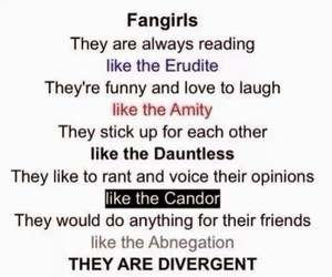 divergent and fangirls image