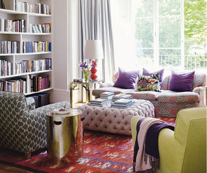 interiors and bohemian living room image