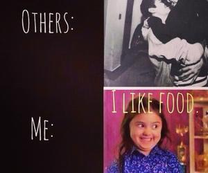 food, me, and funny image