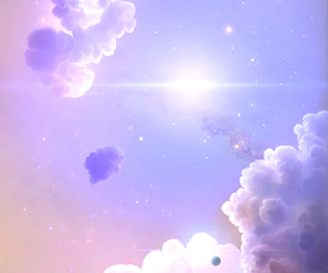 background, clouds, and galaxy image