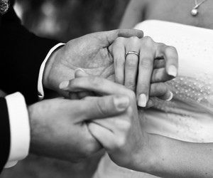 bride, hands, and rings image