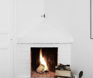 fireplace, fire, and home image