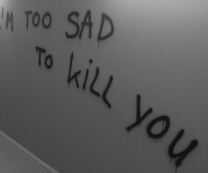 sad, kill, and grunge image