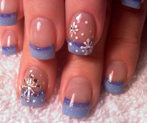 nails, winter, and snowflake image