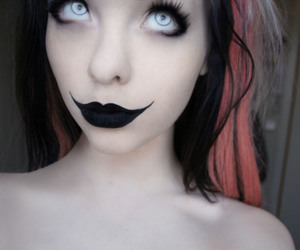 black lipstick, scene, and cute image