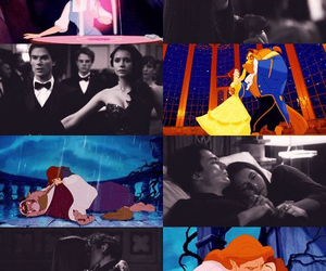 delena, beauty and the beast, and the vampire diaries image