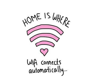 wifi, home, and pink image