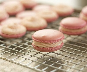 Cookies, pink, and macaroons image