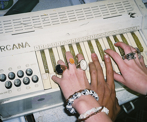 rings, hands, and keyboard image