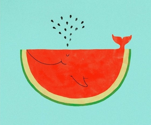 watermelon, whale, and watermelon creations image