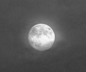 beauty, moon, and black and white image