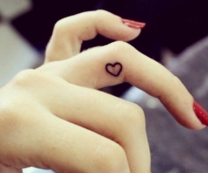 girls, tattos, and hearts image