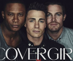 arrow, colton haynes, and david ramsey image