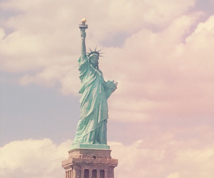 america, liberty, and clouds image
