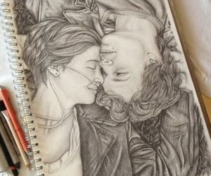 dessin, nos étoiles contraires, and the fault in our stars image