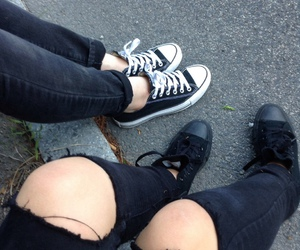 grunge, black, and converse image