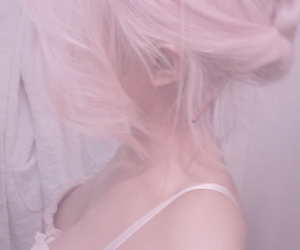 girl, hair, and pastel image