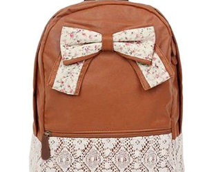backpack, bow, and leather image