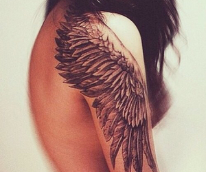 angel, girl, and piercing image