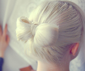 blonde, bow, and girl image