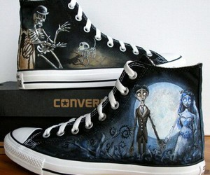 chuck taylor's, the corpse bride, and tim burton movie image