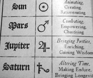 astrology, planets, and symbols image