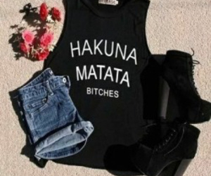fashion, outfit, and hakuna matata image
