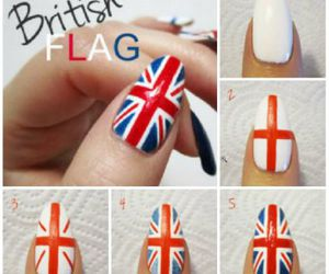 nails, british, and flag image