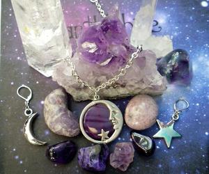 crystal, moon, and stars image