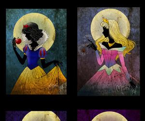 ariel, sleeping beauty, and snow white image