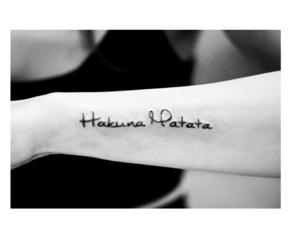 Hakuna Matata Discovered By Lisy On We Heart It