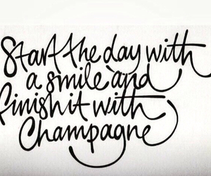 champagne and quote image