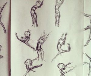 ballerina, ballet, and draw image