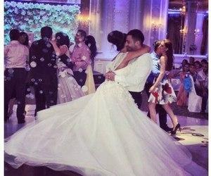 wedding, wedding dress, and couple image