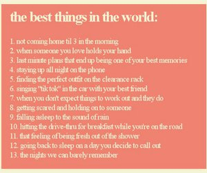 13, best things, and text image