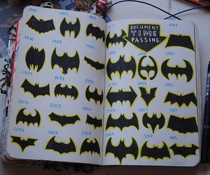 batman, wreck this journal, and bat image