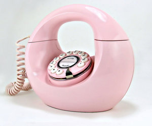 pink, phone, and retro image