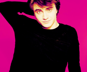 daniel radcliffe, handsome, and pink image