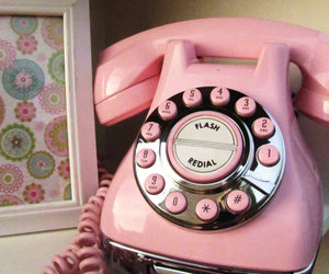 pink, vintage, and phone image