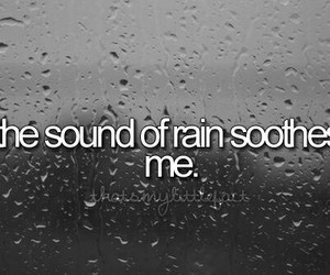 relaxing, sound, and rain image