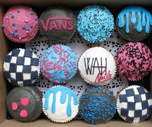 cupcake, vans, and food image
