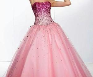 dress, beautiful, and pink image