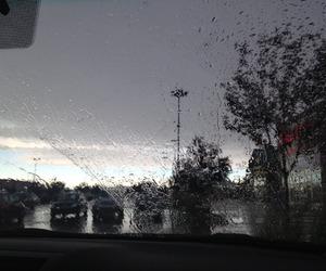 glass, grunge, and rain image