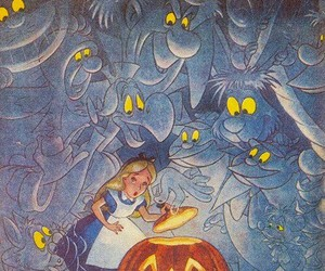 alice in wonderland, Halloween, and ghosts image