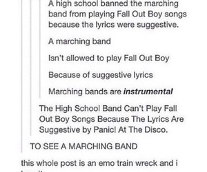 emo, fall out boy, and FOB image