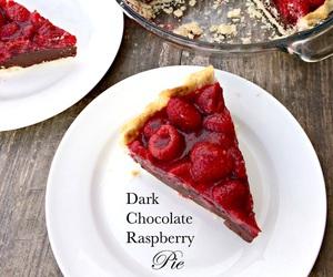pie, dessert, and raspberry image