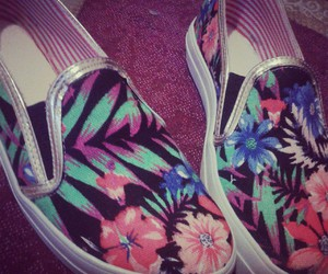 colours, flowers, and shoes image